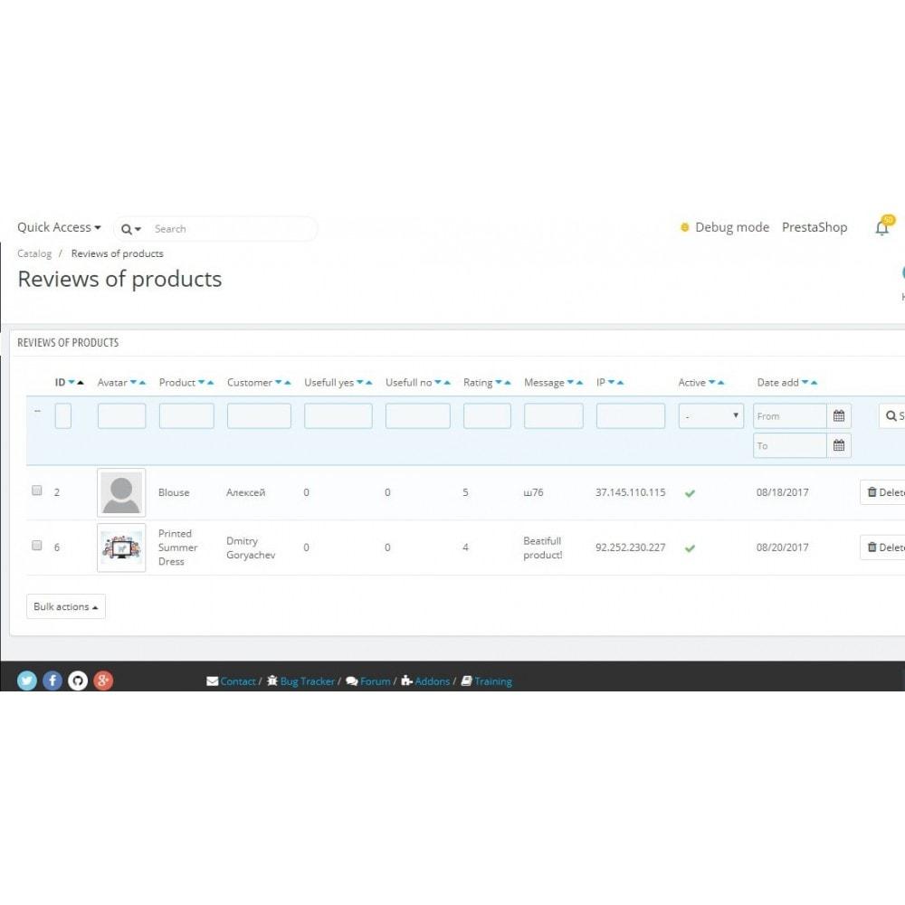 module - Отзывы клиентов - Отзывы о товаре в категории и странице товара - 6