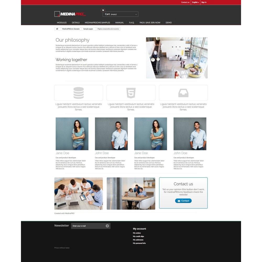 module - Personalización de la página - MedinaPro diseñador de páginas 10 en 1 - 6
