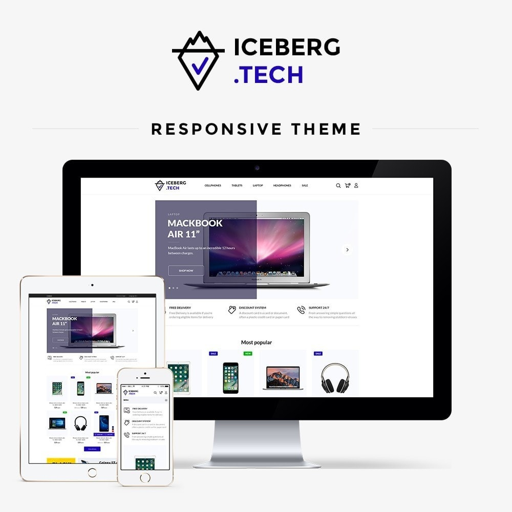 theme - Elettronica & High Tech - Iceberg.tech - High-tech Shop - 1