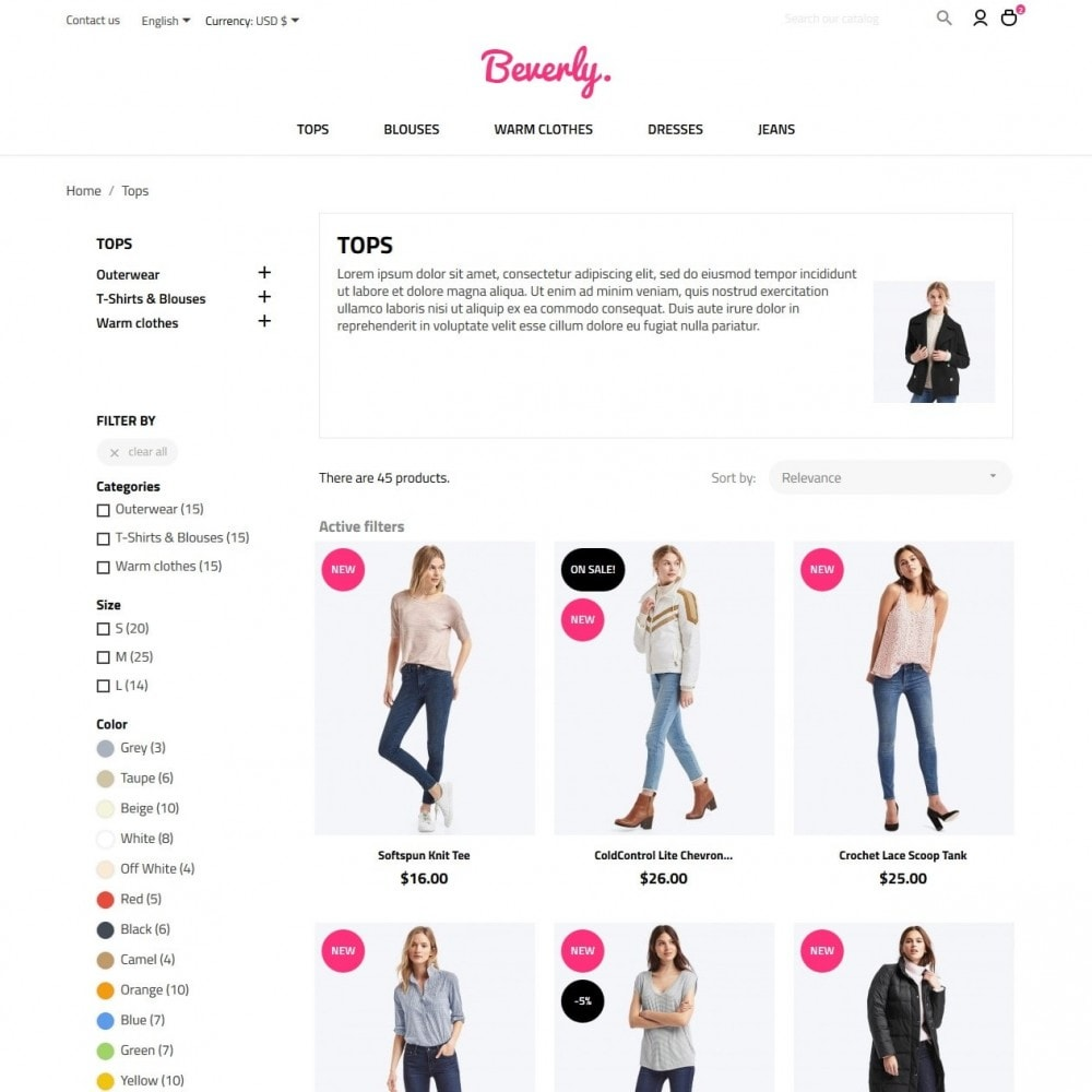theme - Мода и обувь - Beverly Fashion Store - 5