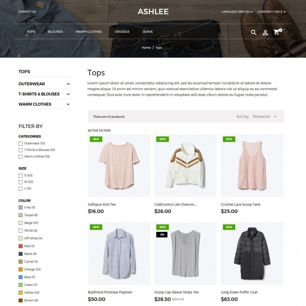 theme - Mode & Chaussures - Ashlee Fashion Store - 12