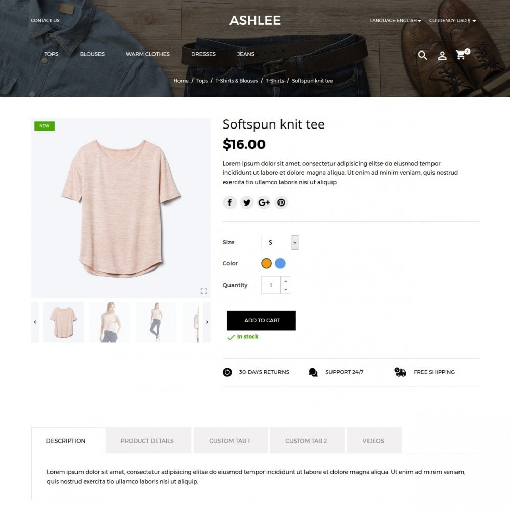 theme - Мода и обувь - Ashlee Fashion Store - 9
