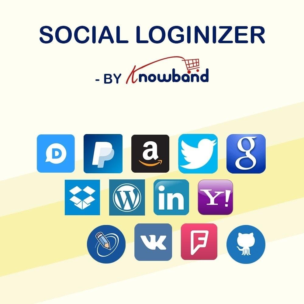 module - Login/Connessione - Knowband - Social Login 14 in 1, Statistics & MailChimp - 1