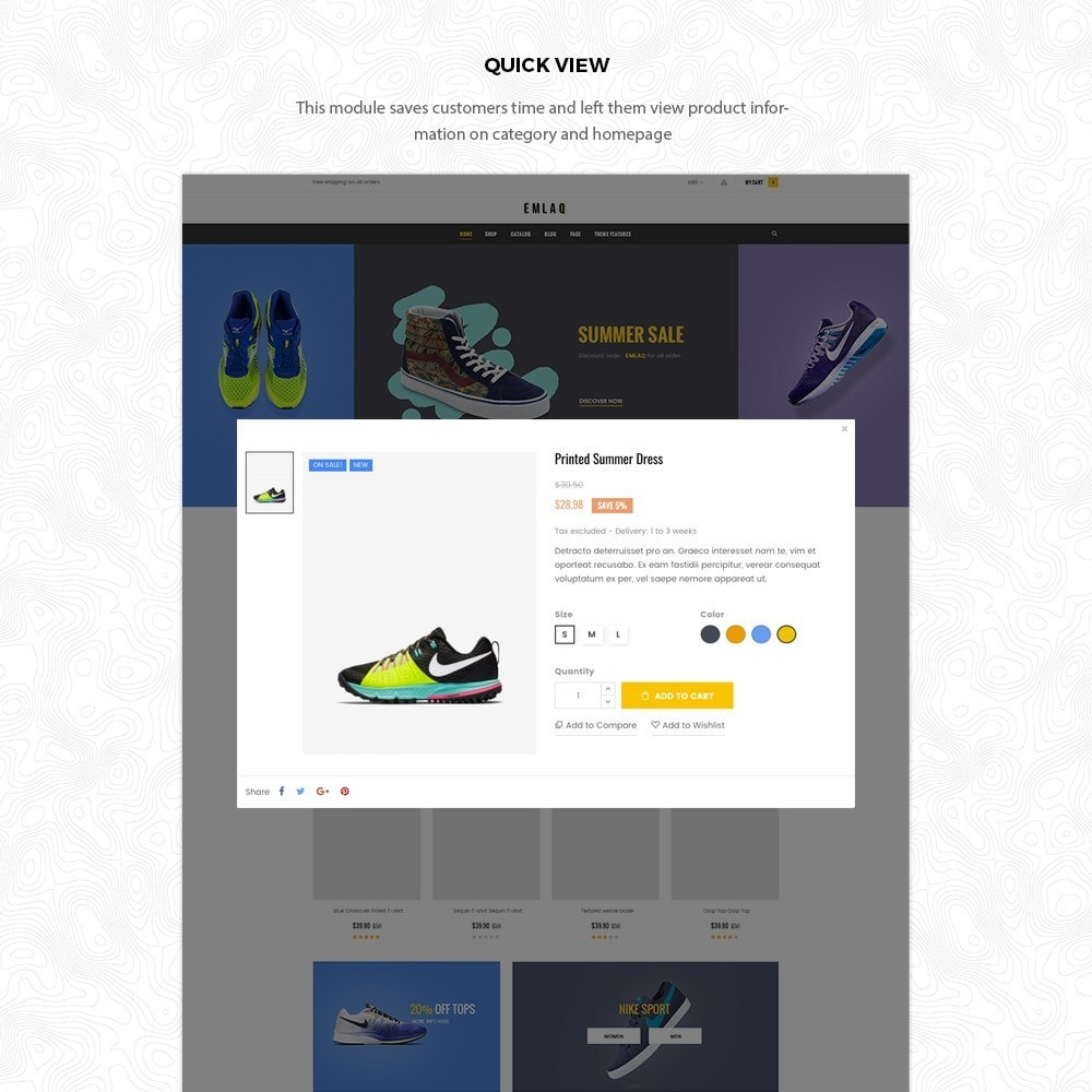 theme - Desporto, Actividades & Viagens - Fashion Sport Shoes Responsive Prestashop Theme 1.7 - 5