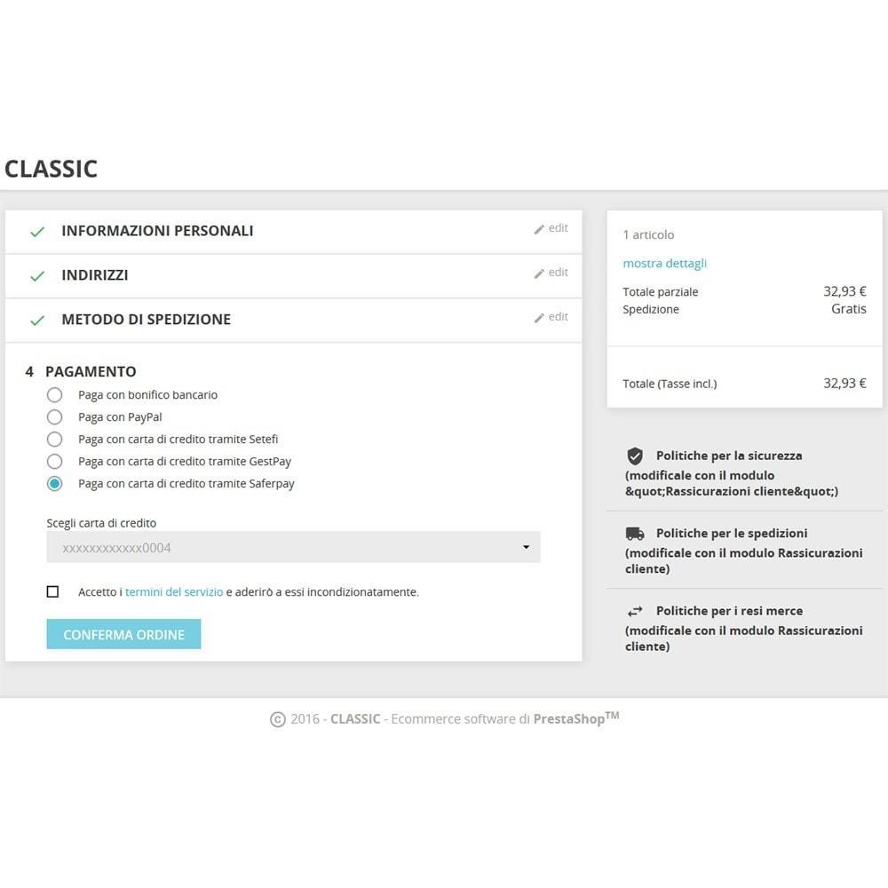 module - Pagamento con Carta di Credito o Wallet - Saferpay / SIX Payment Services - Pagamenti ricorrenti - 3