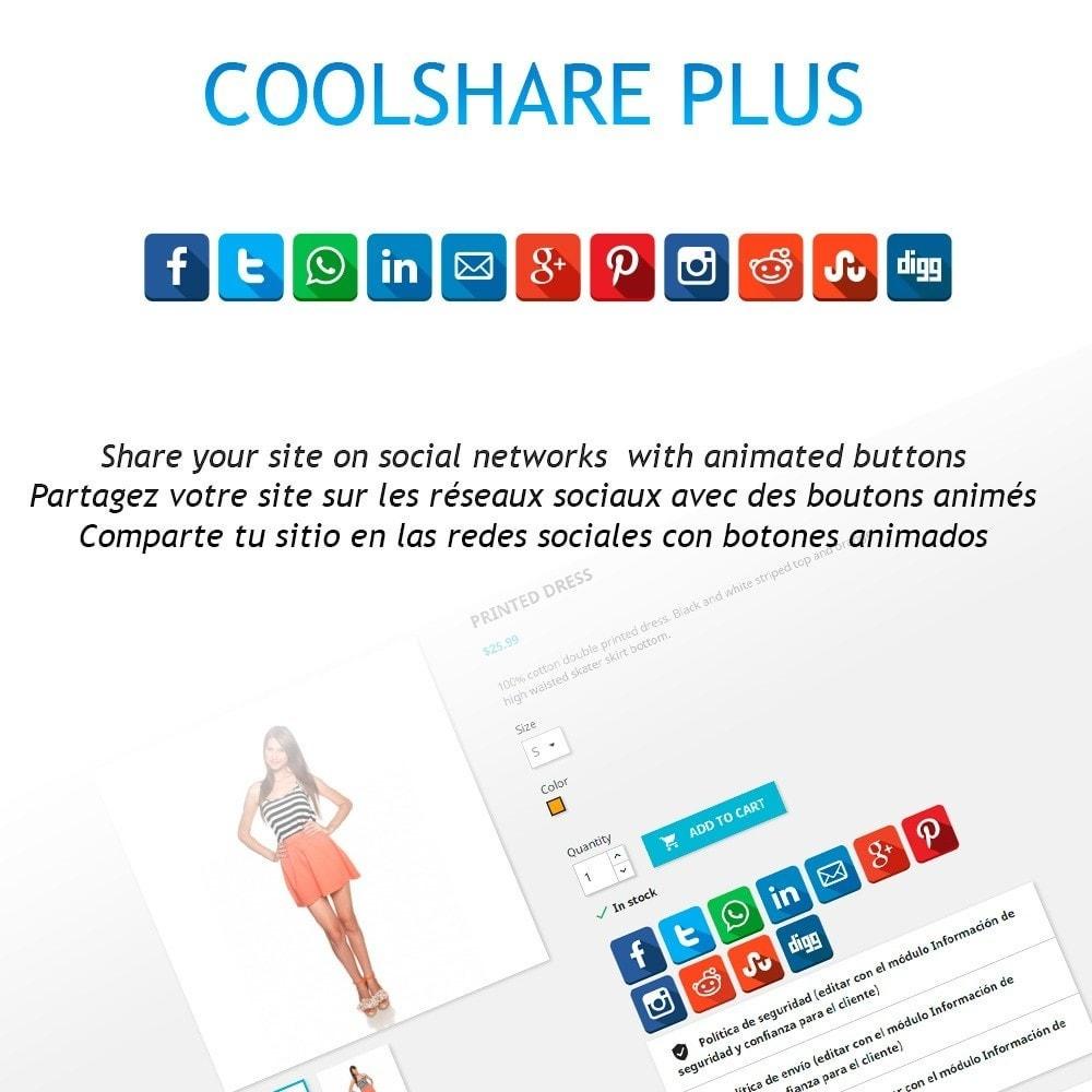 module - Boutons de Partage & Commentaires - CoolShare Plus Social networks - 1