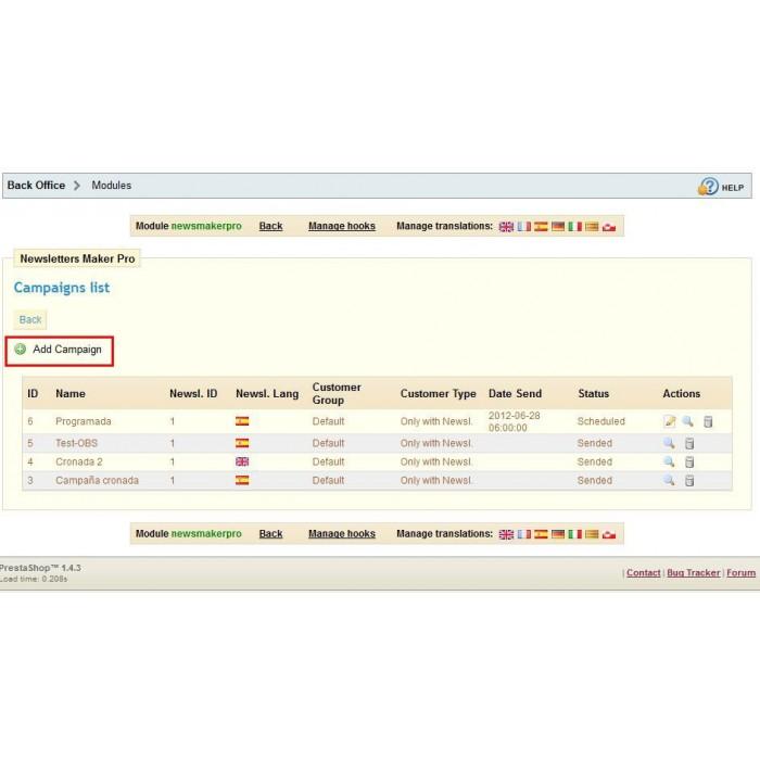 module - Boletim informativo & SMS - Newsletter Maker Pro - 8