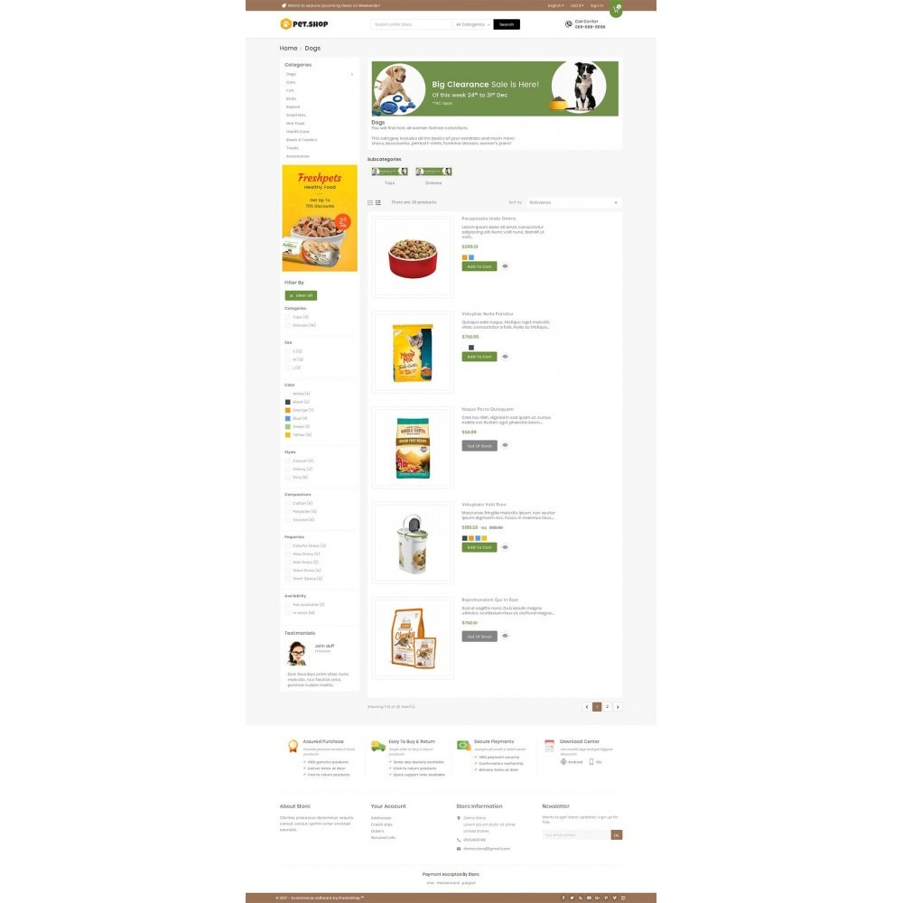 theme - Animais - Mega Pet Food - 4