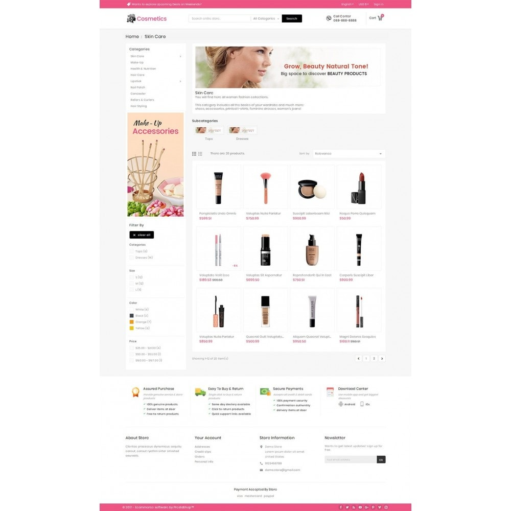 theme - Saúde & Beleza - Mega Cosmetics - 3