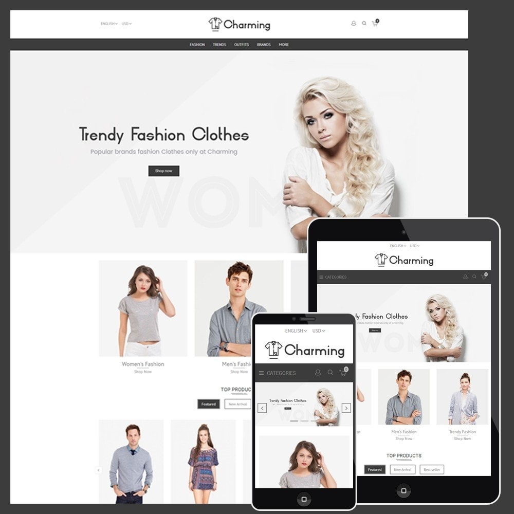 theme - Mode & Chaussures - Charming Fashion Store - 1