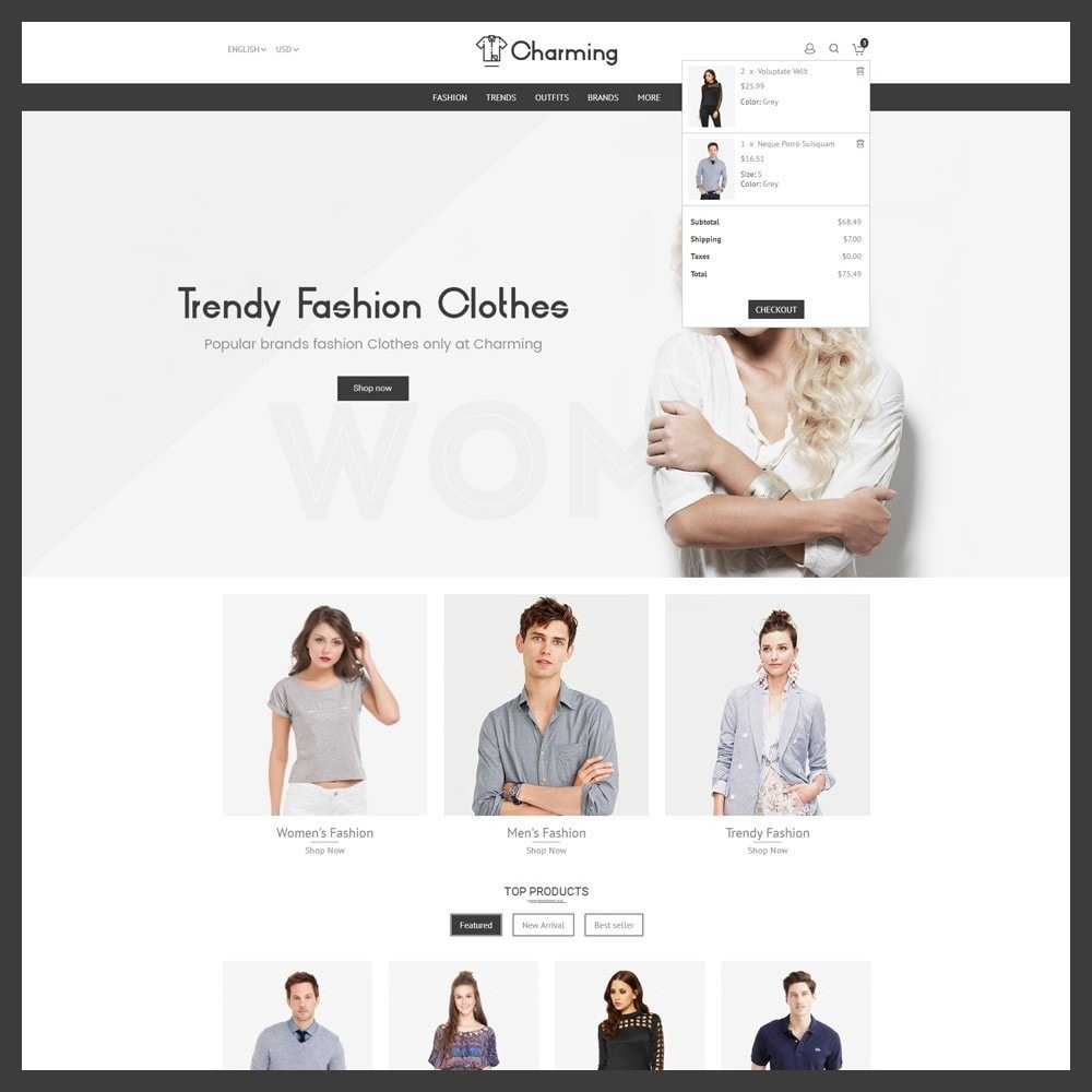 theme - Mode & Chaussures - Charming Fashion Store - 6