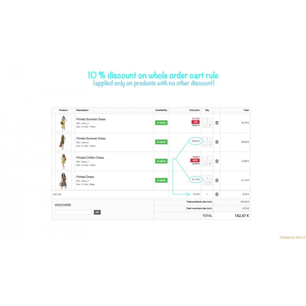 module - Promotions & Cadeaux - Panier d'achat et ses remises - 1