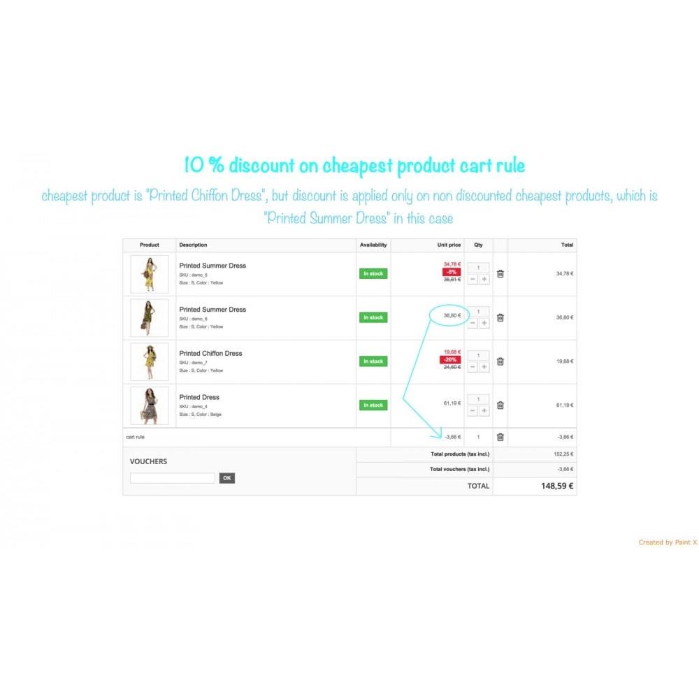module - Promotions & Cadeaux - Panier d'achat et ses remises - 3
