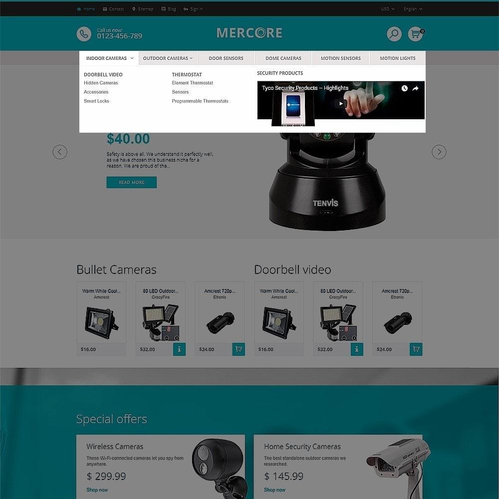 theme - Electrónica e High Tech - Mercore - Tema de PrestaShop para Sitio de Seguridad - 5
