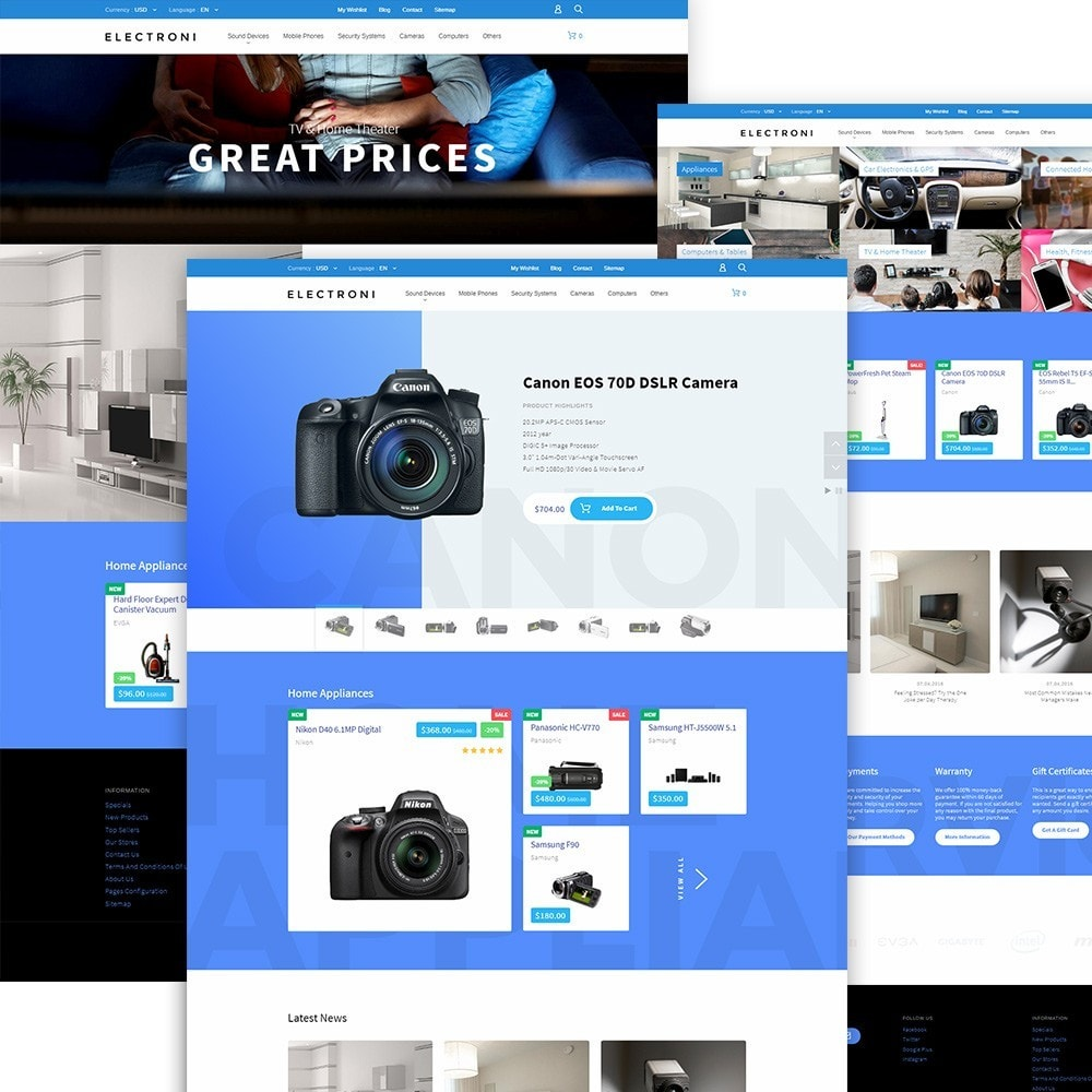 theme - Elektronik & High Tech - Electroni - Electronic Devices PrestaShop Theme - 2