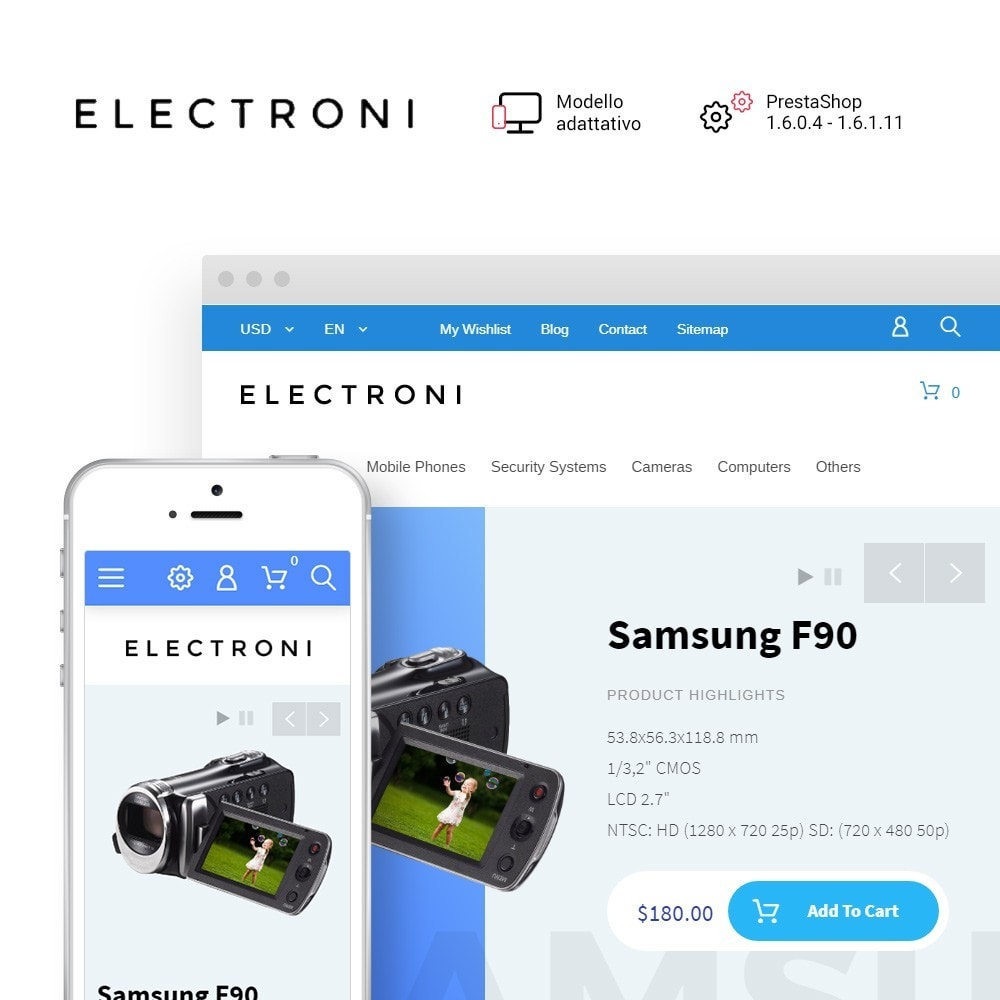 theme - Elettronica & High Tech - Tema PrestaShop Responsive - 1