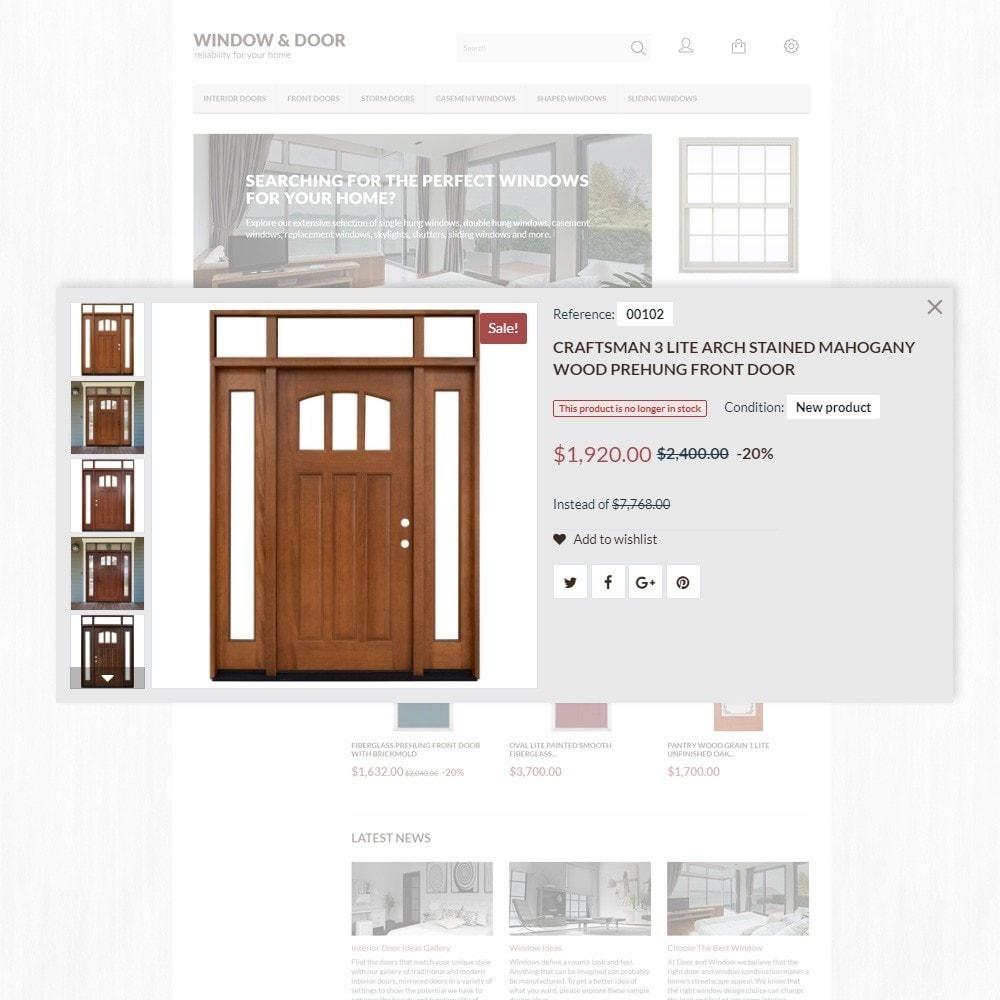 theme - Casa & Giardino - Modello PrestaShop Bootstrap per Un Sito di Finestre - 4