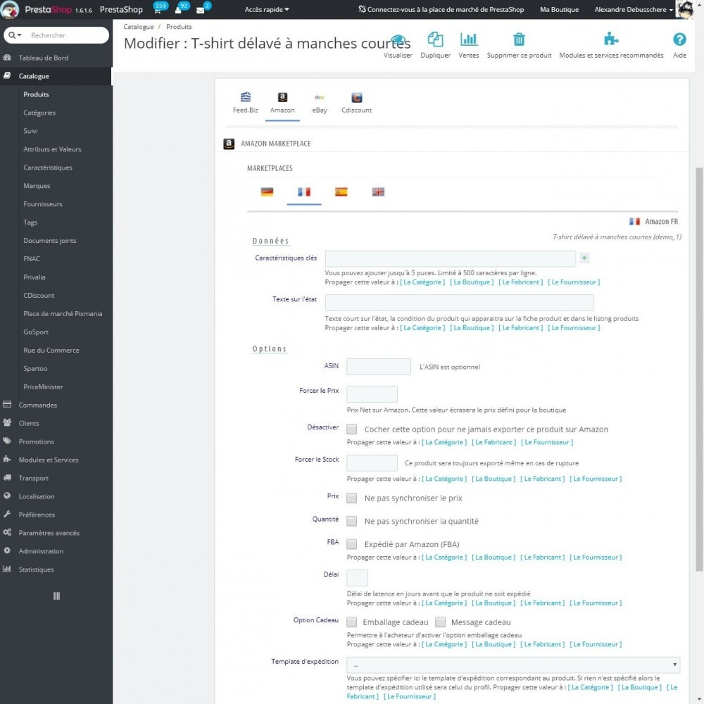 module - Marketplaces - Feed.biz (Intégration Amazon, eBay, Google, Mirakl) - 7