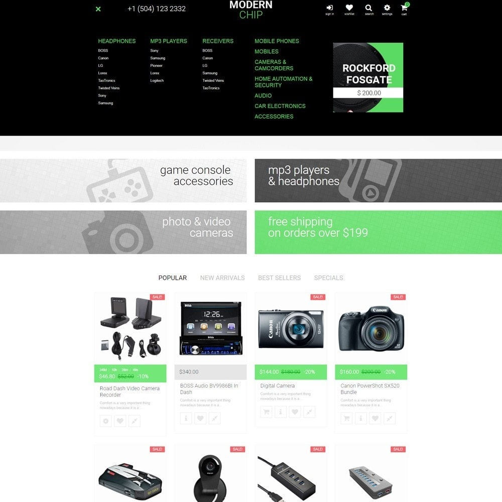 theme - Electronics & Computers - Modern Chip PrestaShop Theme - 3