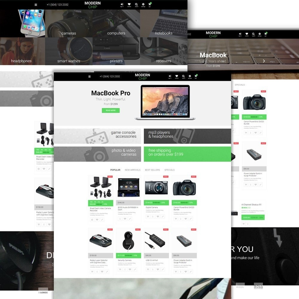 theme - Electrónica e High Tech - Modern Chip para Sitio de Tienda de Ordenadores - 2