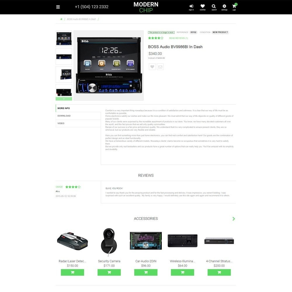 theme - Elettronica & High Tech - Modern Chip - Elettronica Tema PrestaShop Responsive - 5