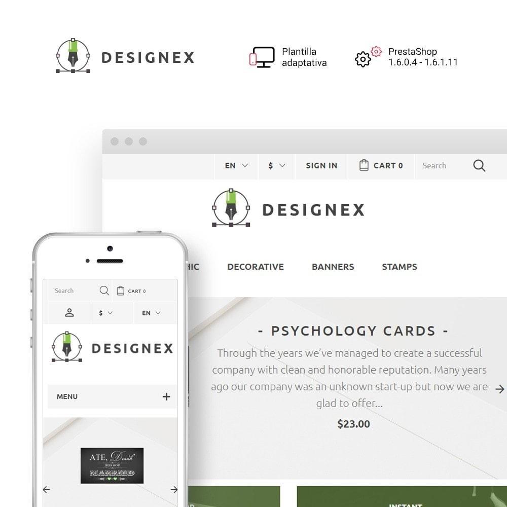 theme - Arte y Cultura - Designex - para Sitio de Estudios de diseño - 1