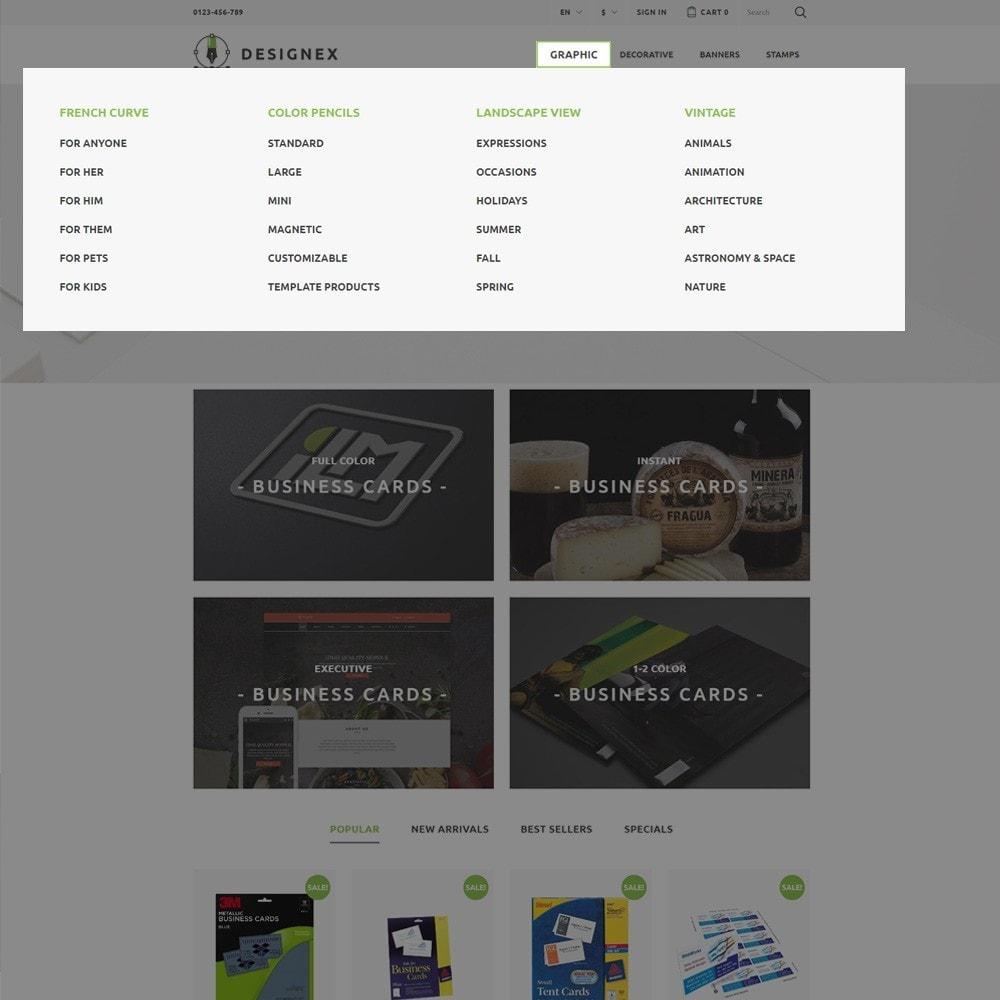 theme - Arte y Cultura - Designex - para Sitio de Estudios de diseño - 4