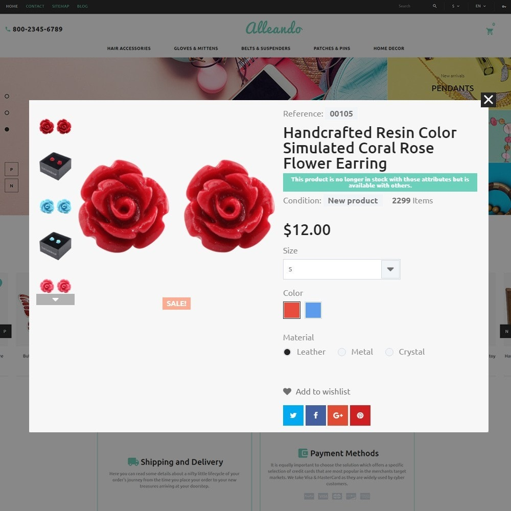 theme - Cadeaus, Bloemen & Gelegenheden - Alleando - Decor Accessories PrestaShop Theme - 3