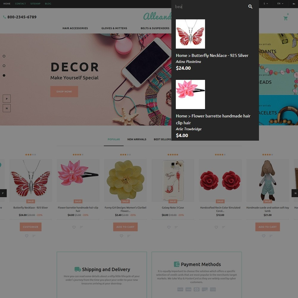 theme - Presentes, Flores & Comemorações - Alleando - Decor Accessories PrestaShop Theme - 6