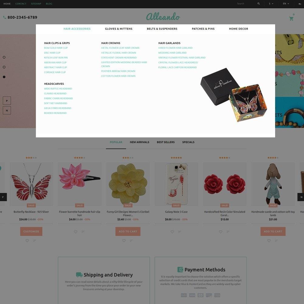 theme - Подарки, Цветы и праздничные товары - Alleando - шаблон по продаже декора и аксессуаров - 5