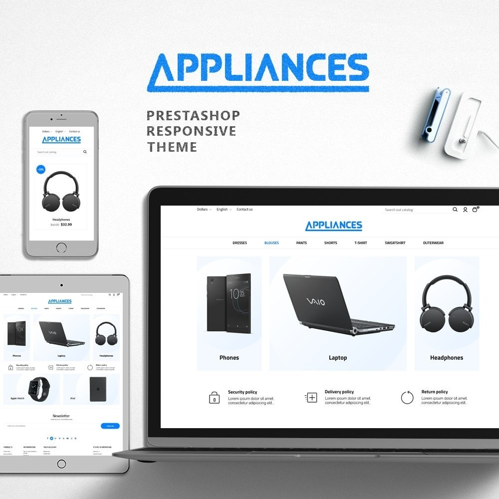 theme - Электроника и компьютеры - Appliances - High-tech Shop - 1