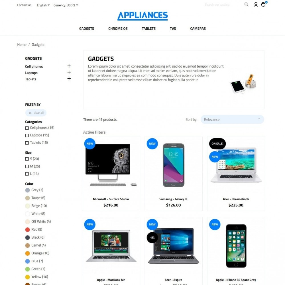 theme - Электроника и компьютеры - Appliances - High-tech Shop - 5