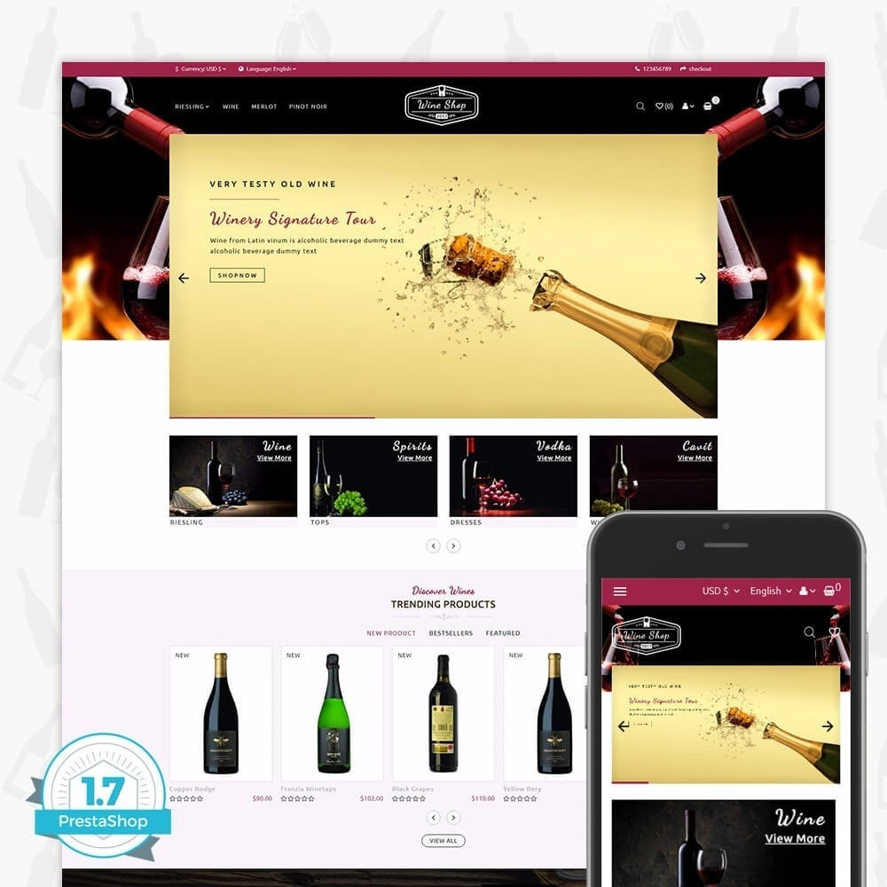 theme - Bebidas & Tabaco - Wine Shop Store - 1