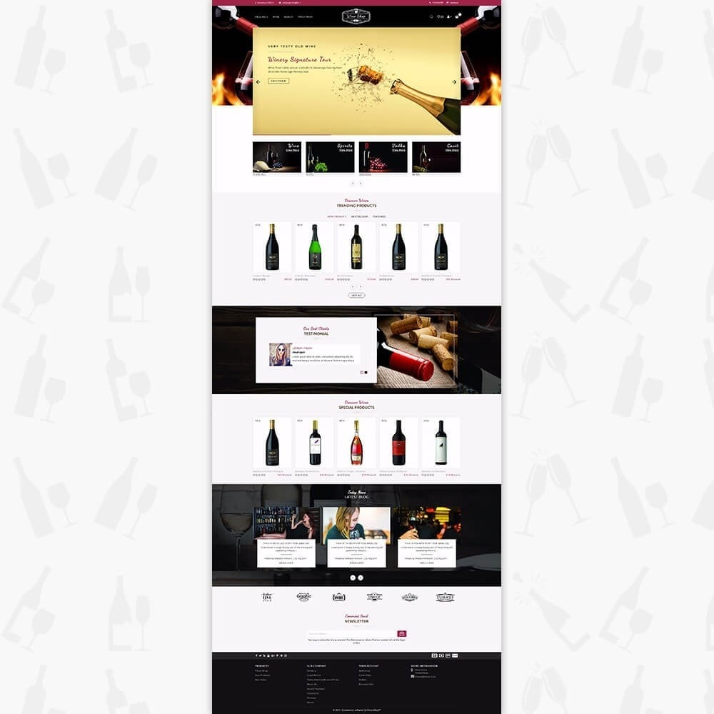 theme - Bebidas & Tabaco - Wine Shop Store - 2