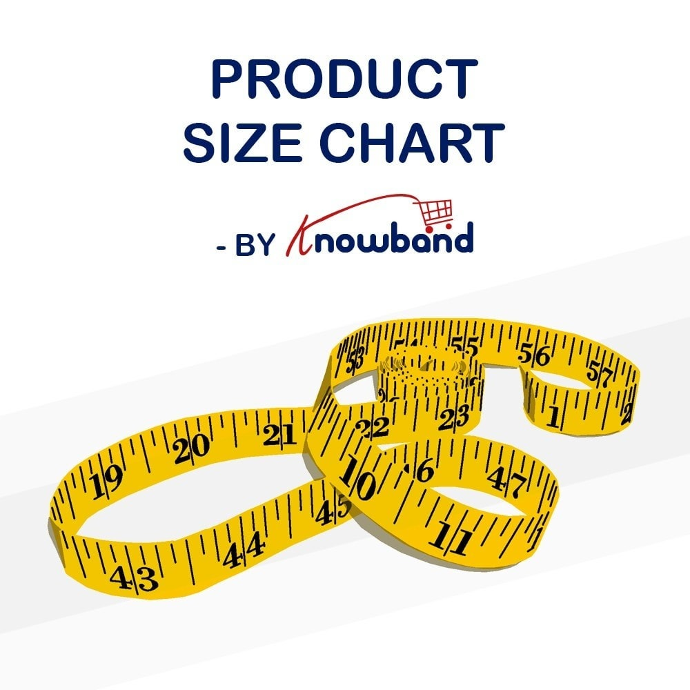 module - Altre informazioni & Product Tab - Knowband - Product size chart - 1