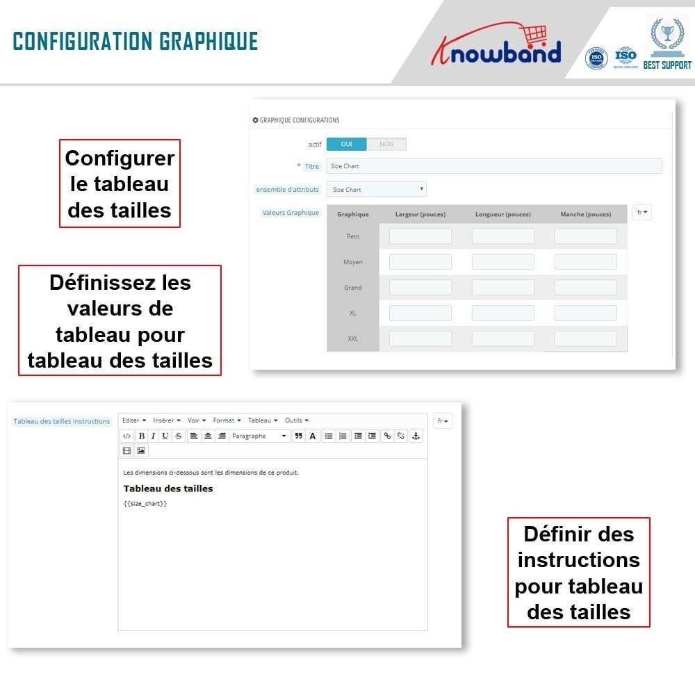 module - Information supplémentaire & Onglet produit - Knowband - Guide des tailles de produit - 6