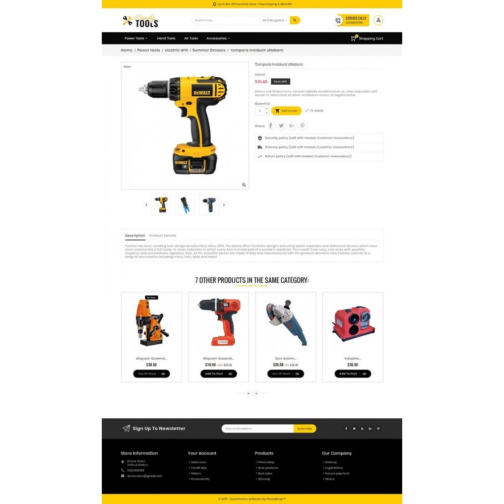 theme - Eletrônicos & High Tech - Handy Tools Store - 5