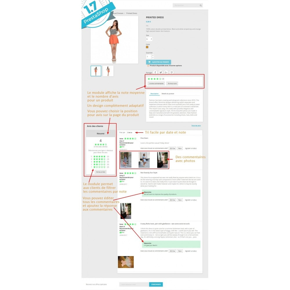 module - Avis clients - Commentaires avancés avec photos + Google rich snippets - 1