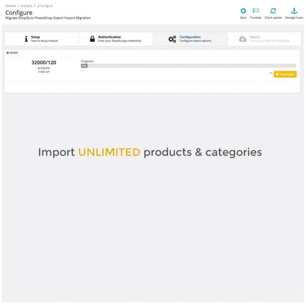 module - Миграции и сохранения данных - Migrate Shopify to PrestaShop Export Import Migration - 4