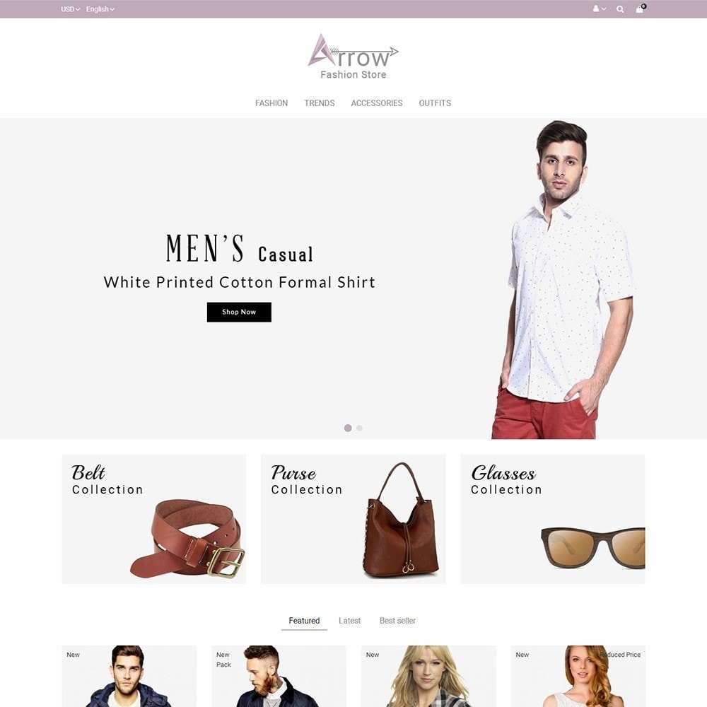 theme - Fashion & Shoes - Arrow Fashion Store - 2