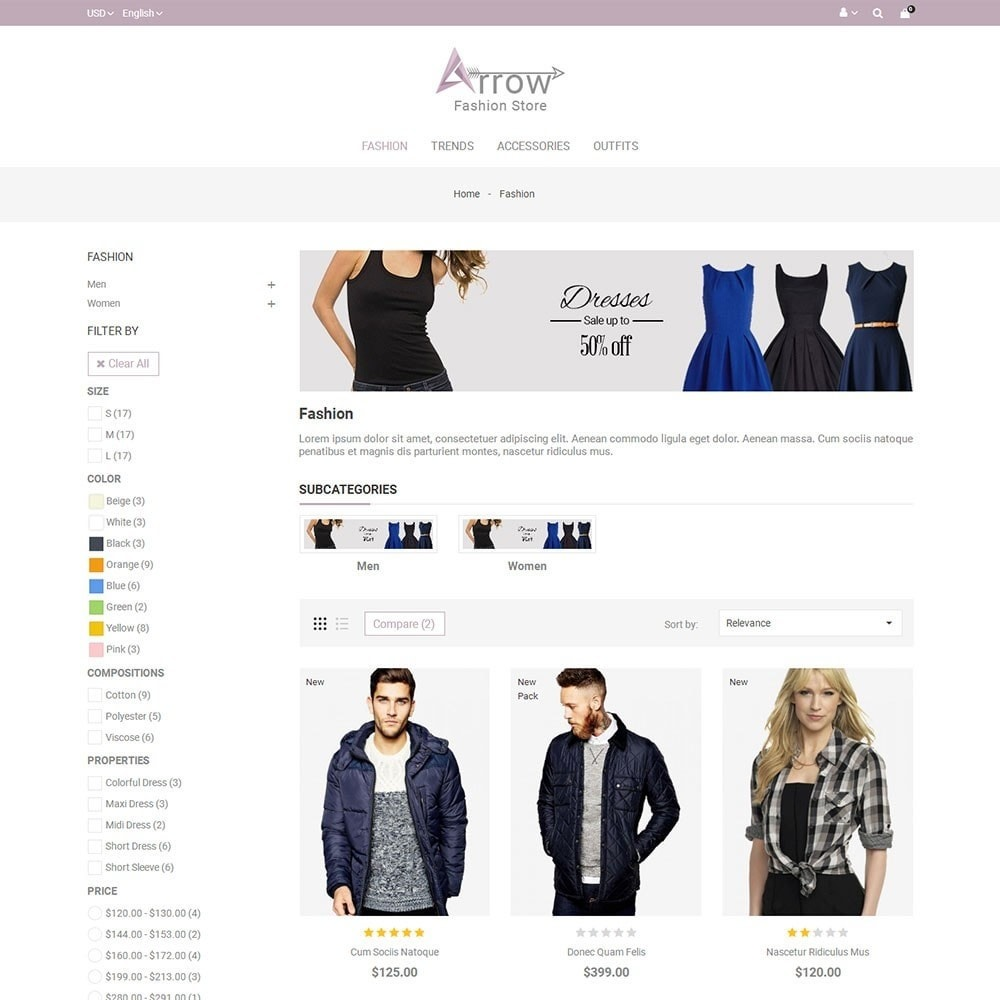theme - Fashion & Shoes - Arrow Fashion Store - 3
