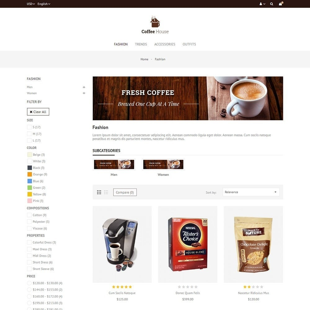 theme - Продовольствие и рестораны - Coffee House Store - 3