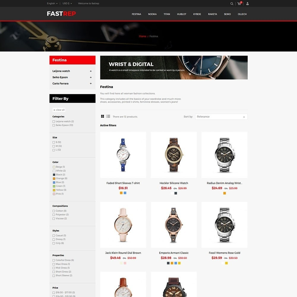 theme - Mode & Chaussures - Fasttrep - Watch Store - 3