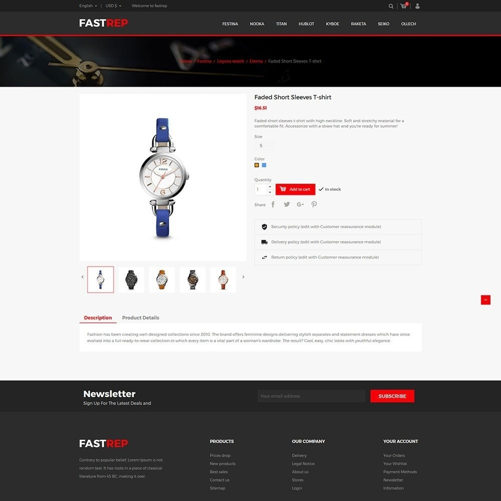 theme - Mode & Chaussures - Fasttrep - Watch Store - 5