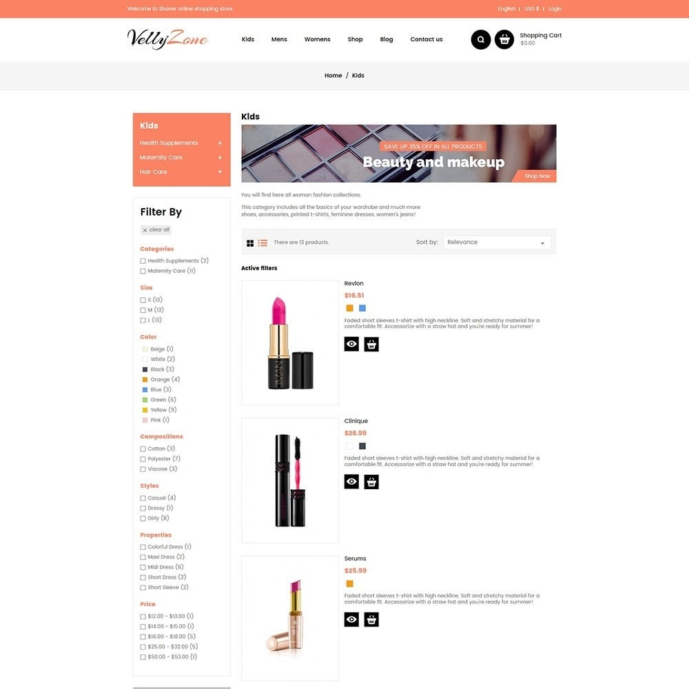 theme - Health & Beauty - Vellyzone - Cosmetics  Store - 4
