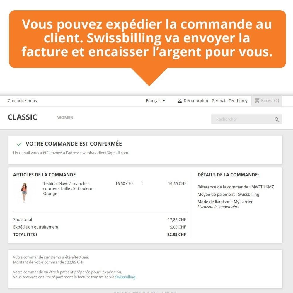 module - Paiement par Facture - Swissbilling - Paiement par facture - 6