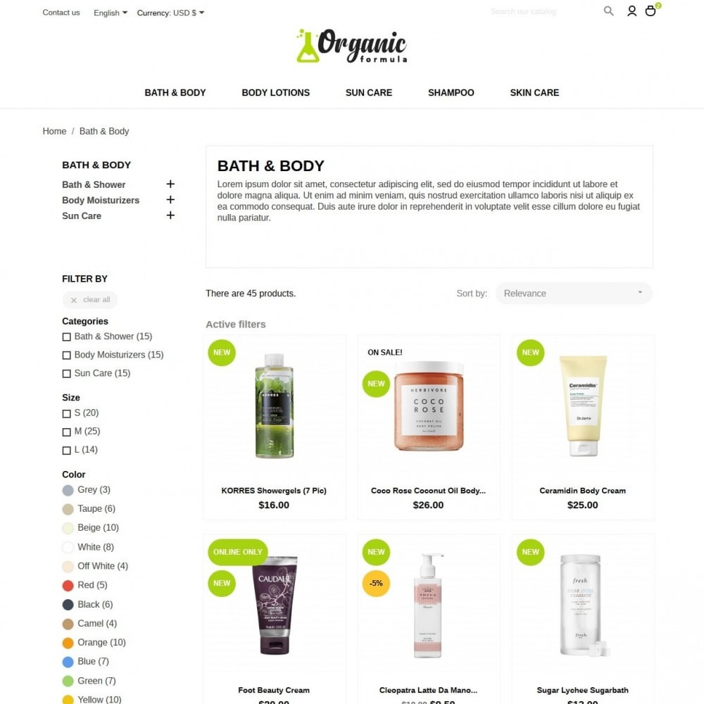 theme - Health & Beauty - OrganicFormula Cosmetics - 5