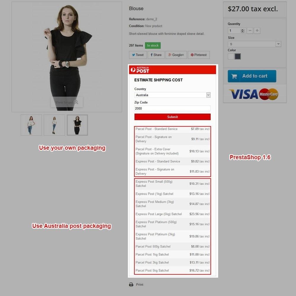 module - Custo de frete - Australia Post - 12