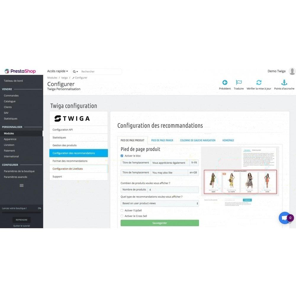 module - Information supplémentaire & Onglet produit - Twiga recommandations produit et liveStats - 3