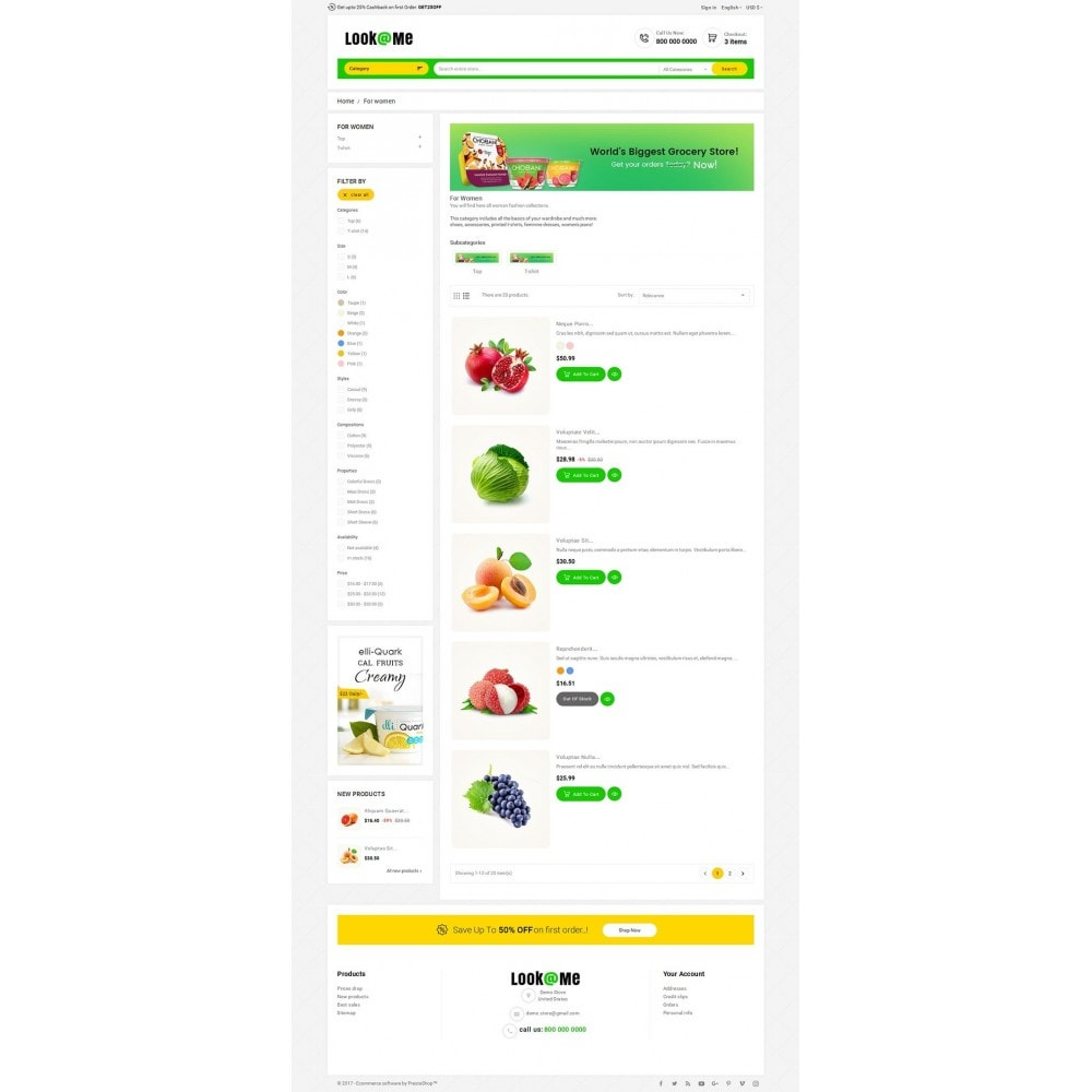 theme - Alimentation & Restauration - Look me Grocery Food - 4